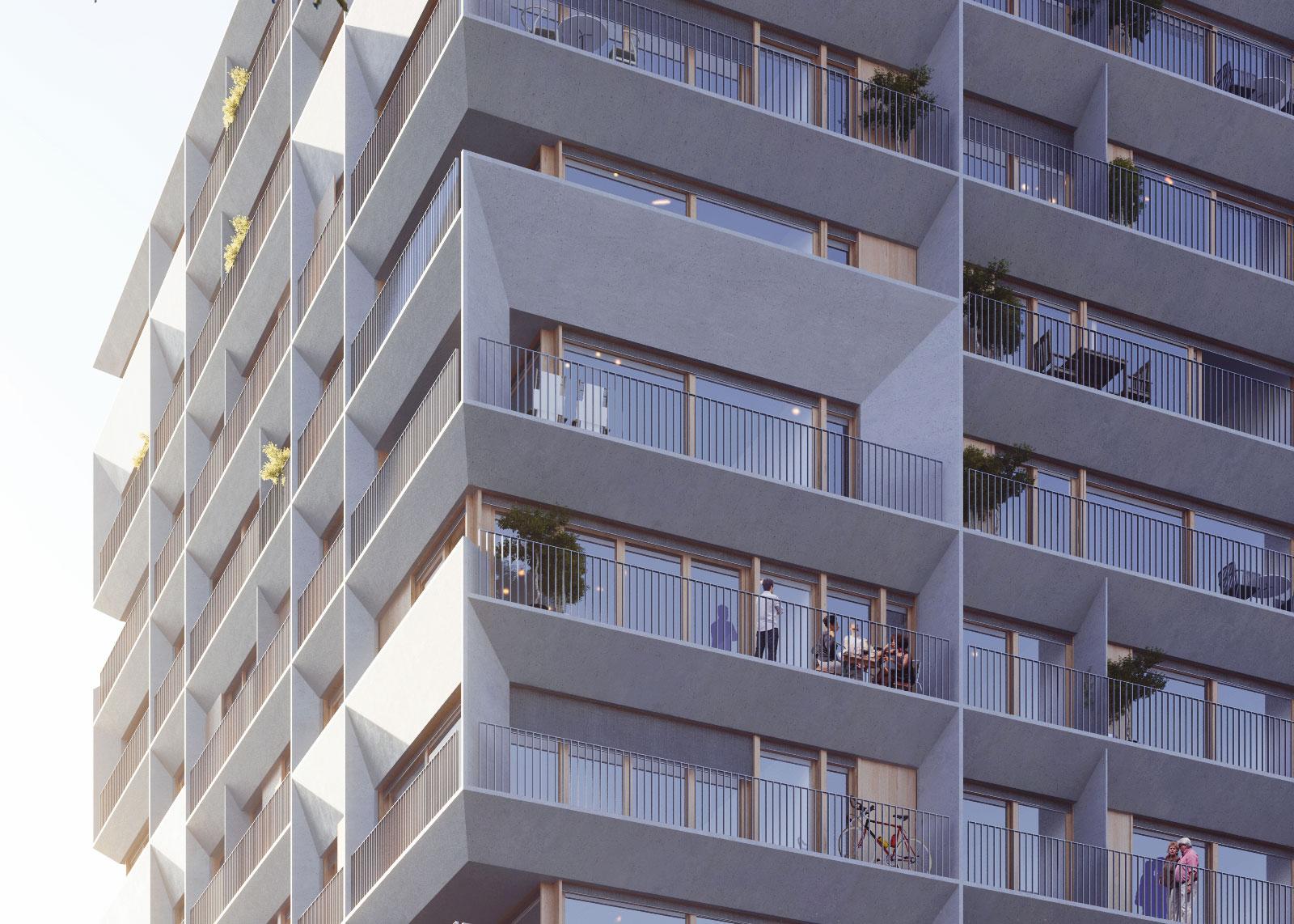 105 logements sociaux + S.O.H.O.