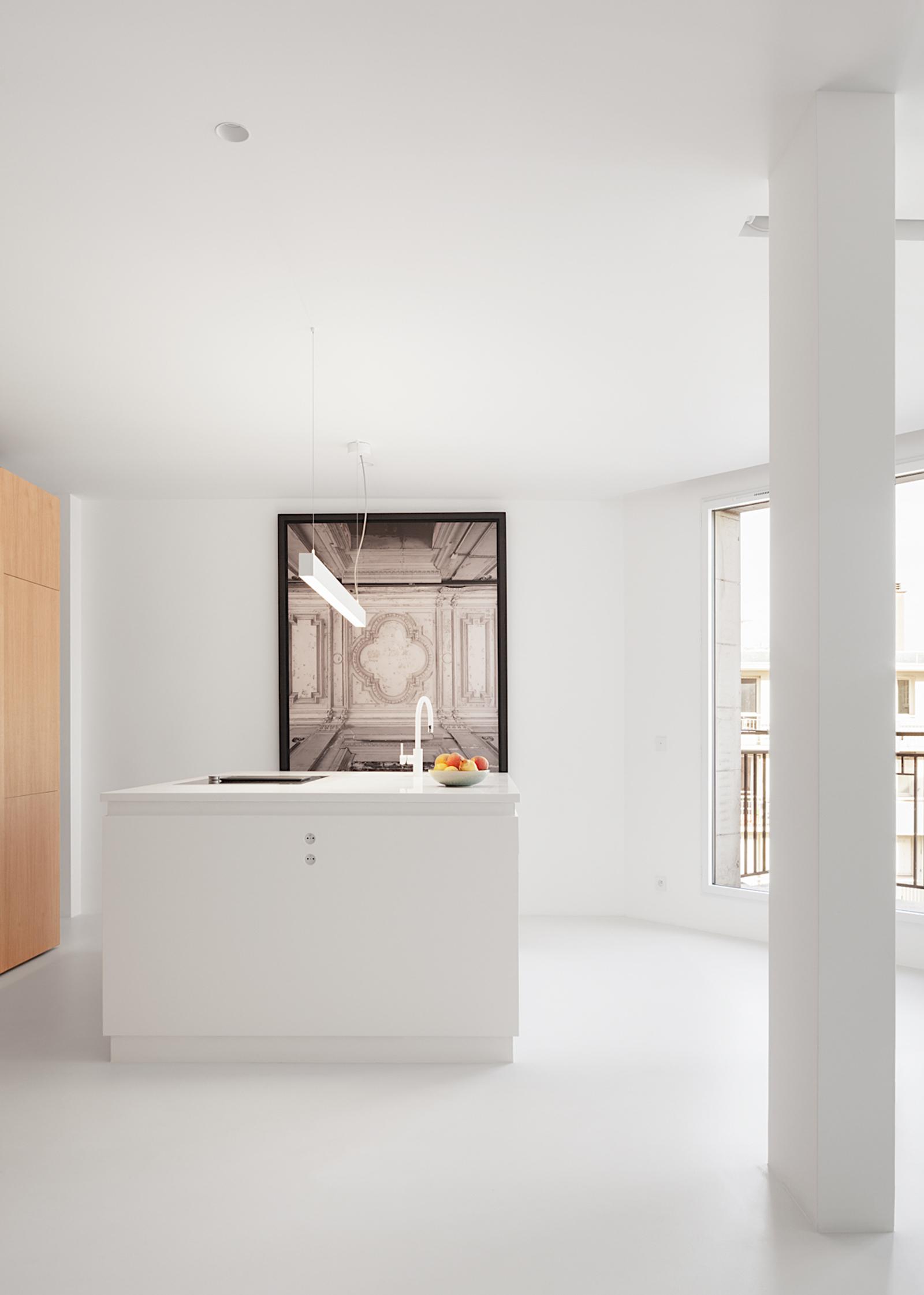 appartement S - heros architecture architecte intérieur parisien paris appartement logement rénovation réhabilitation extension restructuration minimaliste design épuré