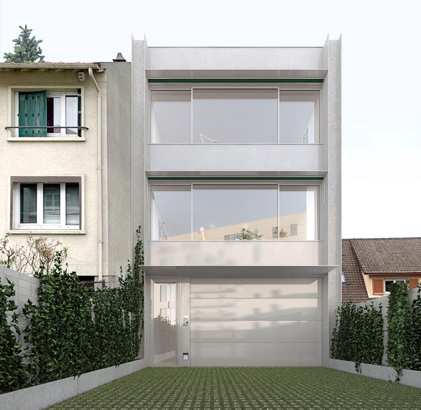 atelier + logement M - heros architecture logements architecte parisien paris immeuble d'habitations champigny-sur-marne